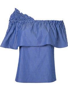 полосатая блузка с открытыми плечами Le Ciel Bleu