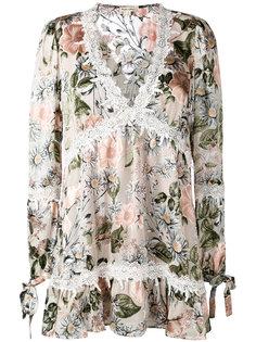 longsleeved floral dress For Love And Lemons