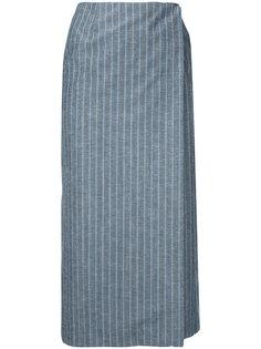 юбка прямого кроя в тонкую полоску Le Ciel Bleu