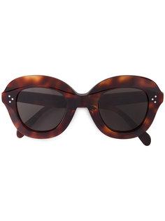 объемные солнцезащитные очки Havana Céline Eyewear