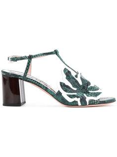 Strass leaf block heels Rochas