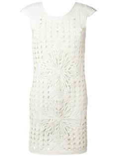 многослойное платье с вырезными деталями Cavalli Class