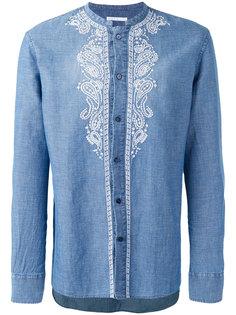 рубашка с вышивкой без воротника Ermanno Scervino