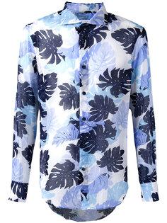 рубашка с пальмовым принтом  Ermanno Scervino