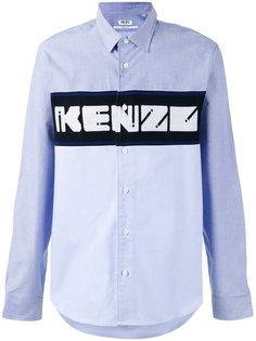 рубашка с тканой панелью Kenzo