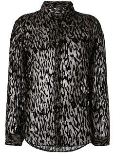 полупрозрачная блузка с леопардовым принтом The Kooples