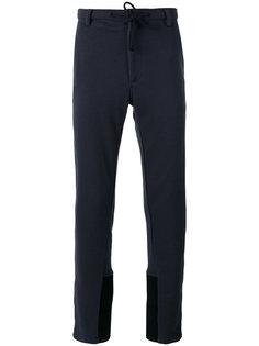 спортивные брюки с панельным дизайном Ann Demeulemeester Grise
