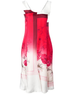 платье с цветочным принтом деграде  Salvatore Ferragamo