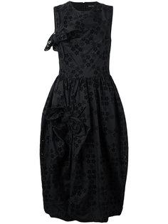 платье с вышивкой ришелье  Simone Rocha