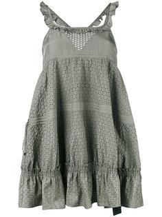 платье мини с оборками  Diesel Black Gold