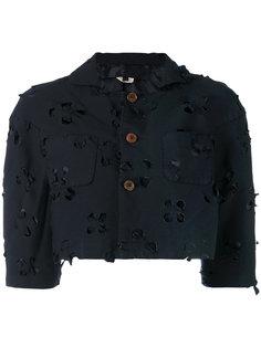 укороченный пиджак с вырезными деталями Comme Des Garçons Comme Des Garçons