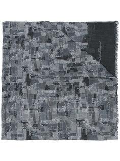 шарф с узором в виде церквей Salvatore Ferragamo