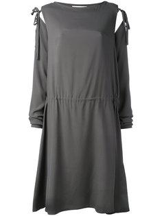 платье с завязками на рукавах  Société Anonyme