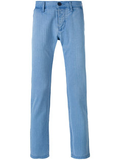 striped tapered trousers Edwin