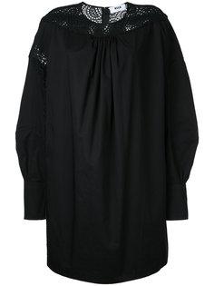 платье-кокон с вышивкой MSGM