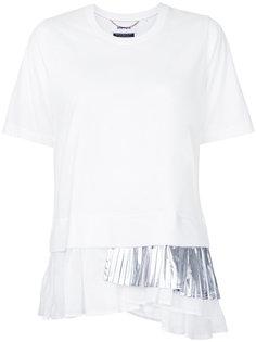 футболка с плиссировкой металлик  Muveil