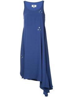 асимметричное платье с отделкой  Mm6 Maison Margiela