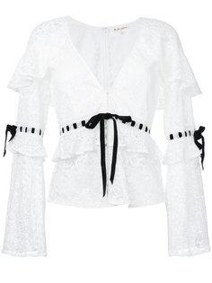 кружевная блузка с V-образным вырезом For Love And Lemons