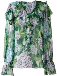 блузка с гортензиями Dolce & Gabbana