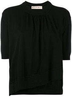 свитер с укороченными рукавами Marni