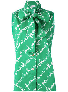 блузка без рукавов Chanel Vintage