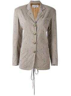 жаккардовый пиджак в полосатый и цветочный узор Jean Paul Gaultier Vintage