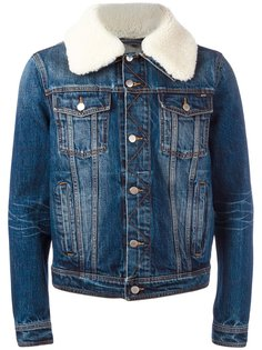 джинсовая куртка с воротником из овчины Ami Alexandre Mattiussi