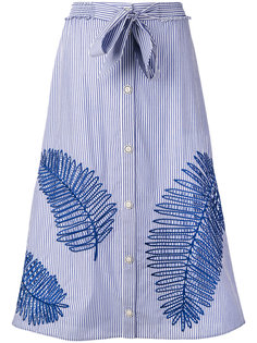 stripe buttoned midi skirt Tanya Taylor