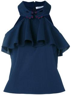 блузка халтер с оборкой  Vivetta