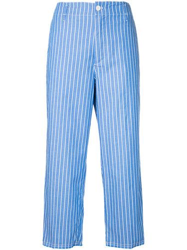 укороченные широкие брюки в полоску  Golden Goose Deluxe Brand