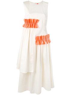 расклешенное платье с оборками  Paskal