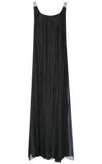 Длинное черное платье Compagnia Italiana
