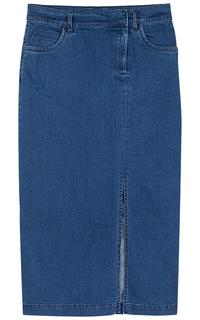 Джинсовая юбка с разрезом La Reine Blanche