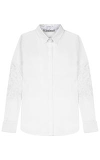Белая рубашка с кружевом Desigual