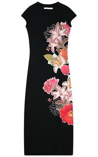 Черное платье с принтом Desigual