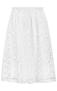 Белая кружевная юбка La Reine Blanche