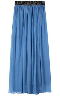 Голубая юбка макси Compagnia Italiana