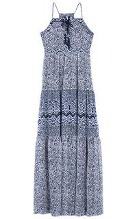 Платье макси с принтом Pepe Jeans London