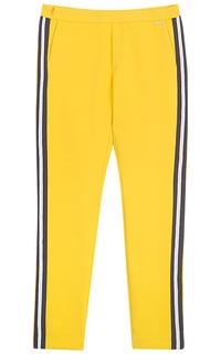 Желтые брюки с лампасами Dept