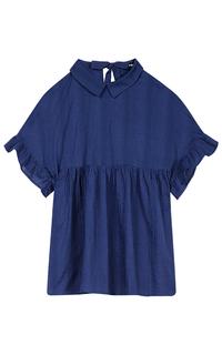 Синяя блузка La Reine Blanche
