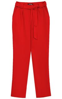 красные брюки с поясом La Reine Blanche