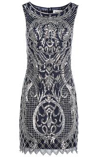 Платье с декором из пайеток и бисера La Reine Blanche