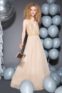 Платье макси с декором La Reine Blanche