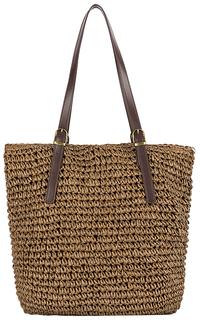 Коричневая соломенная сумка Maxval