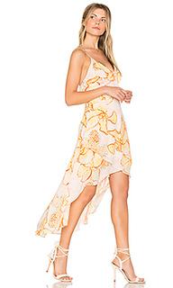Платье с запахом и оборкой animal orchid - MINKPINK