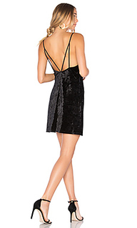 Бархатное платье-комбинация - Bardot