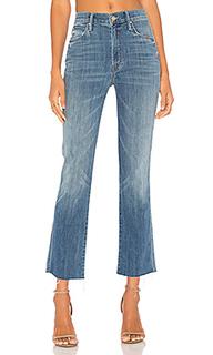 Укороченные потрепанные джинсы с высокой талией the rascal - MOTHER
