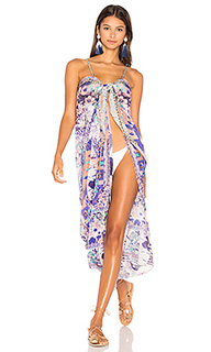 Tie front cover up dress - Camilla
