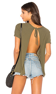 Winona sliced tie back tee - Nation LTD