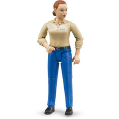 Фигурка женщины, голубые джинсы, Bruder